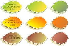 Free Set Of Autumn Stickers Stock Image - 20799731