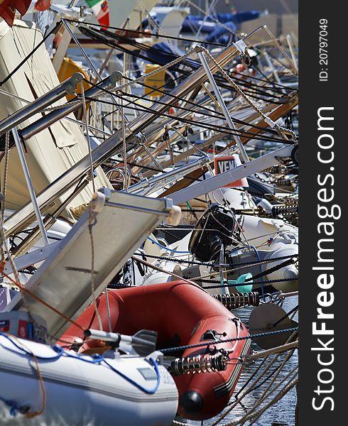 Italy, Siciliy, Mediterranean sea, luxury yachts