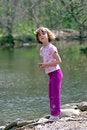 Free Pretty Girl Near The Pond Stock Photo - 2084320