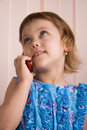 Free Little Girl Talking At Phone Royalty Free Stock Images - 2085499