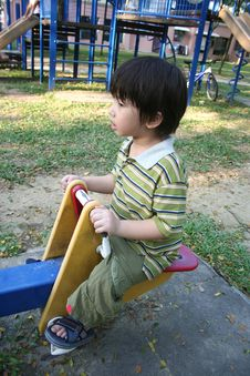 Free Boy On Seesaw Stock Images - 2080184