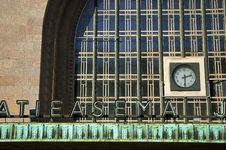 Free Train Station Clock Royalty Free Stock Images - 2080919