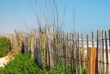 Old Fence At The Beach Stock Photography