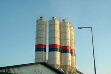 Silo Tanks In Plant Stock Photo