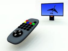 Free TV Control And TV 10 Royalty Free Stock Photos - 2083368