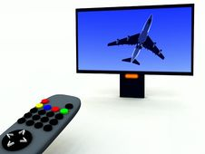 Free TV Control And TV 12 Stock Photos - 2083373