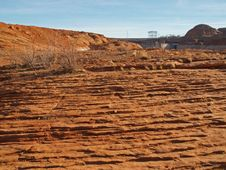 Rock Formation In The Glen Canyon Stock Image
