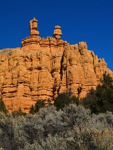Free Sandstone Formations In Red Canyon Stock Image - 2083761