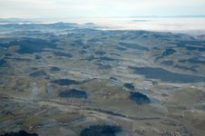 Beautiful Moutains Shot From Plane Royalty Free Stock Image