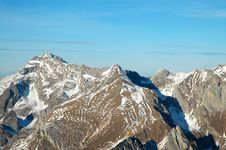 Free Swiss Mountains Shot From Small Airplane Royalty Free Stock Images - 2085009