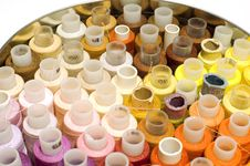 Set Spool Of Thread Royalty Free Stock Photo