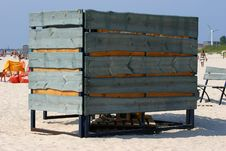 Free Beach Cabine In Sandy Beach Royalty Free Stock Photo - 2085625