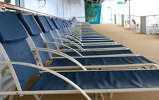 Free Blue Deck Chairs Stock Image - 2085971
