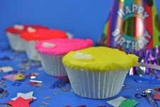 Free Four Colorful Cupcakes Stock Photography - 2086512