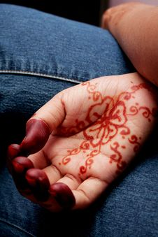 Free Hand Henna Royalty Free Stock Photography - 2087317