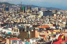 Free Panorama In Barcelona, Barri Gothic Stock Photos - 2088613