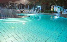 Free Huge Pool At Night Stock Image - 2088661