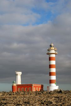 Lighthouse Before Storm Royalty Free Stock Photography