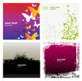 Free 4 Grunge Banner Floral Background Royalty Free Stock Images - 20803359