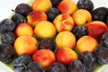 Free Natural Ripe Plums And Peaches Royalty Free Stock Images - 20803729