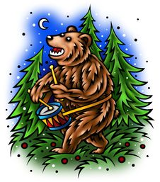 Free Bear Drum Royalty Free Stock Image - 20800336