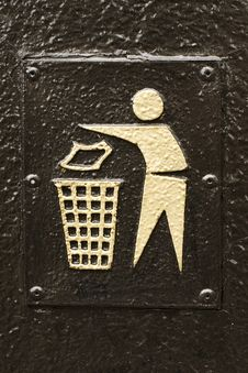 Free Litter Sign Royalty Free Stock Image - 20800896