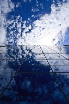 Free Clouds Reflectionon On Office Building Stock Image - 20801691
