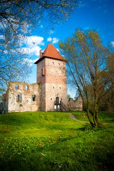 Old Mysterious Castle Landscape Royalty Free Stock Photos