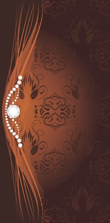 Free Strasses On The Decorative Brown Background Stock Photos - 20802133