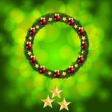 Free Glowing Christmas Wreath Stock Photo - 20802380