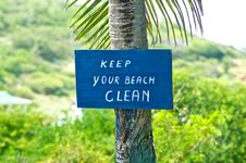 Free Beach Warning Sign Stock Photography - 20803342