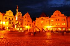 The Square In Cesky Krumlov Royalty Free Stock Image
