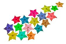 Free Colorful Star Fruit On White Background Stock Photos - 20803413