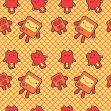 Free Cute Robots Background Royalty Free Stock Photo - 20803875
