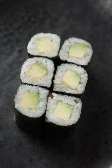 Avocado Roll Stock Image