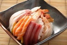 Free Chirashi Sushi Stock Image - 20804011