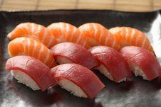 Free Salmon Tuna Sushi Stock Images - 20804224