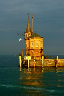 Port Entrance Building Of Constance Harbour Royalty Free Stock Photos