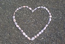 Free Heart From Stones On The Beach Royalty Free Stock Image - 20804686