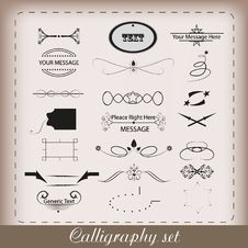 Calligraphy Set Stock Image