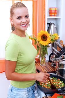 Free In The Kitchen Stock Photography - 20805462