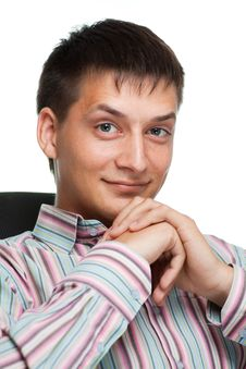 Portrait Of A Smiling Young Businessman Stock Photos