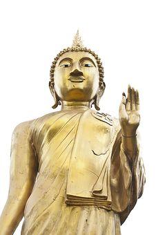 Golden Buddha Isolate Stock Image