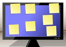 Free Sticky Notes On A Monitor Stock Photo - 20806410