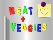 Free Meat And Vegetable Fridge Magnets Stock Photos - 20806413