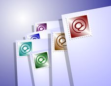 Free Mail With At Sign Royalty Free Stock Photos - 20806418