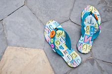 Free Colorful Sandals. Stock Images - 20806434