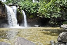 Free Beautiful Waterfall In The Jungle. Stock Photo - 20806640