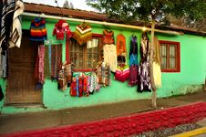 Free Colorful House With A Sale Of Clothes Stock Images - 20806694