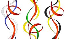 Collection Of Swirl Ribbons Royalty Free Stock Image